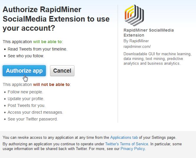 Using Twitter - RapidMiner Documentation