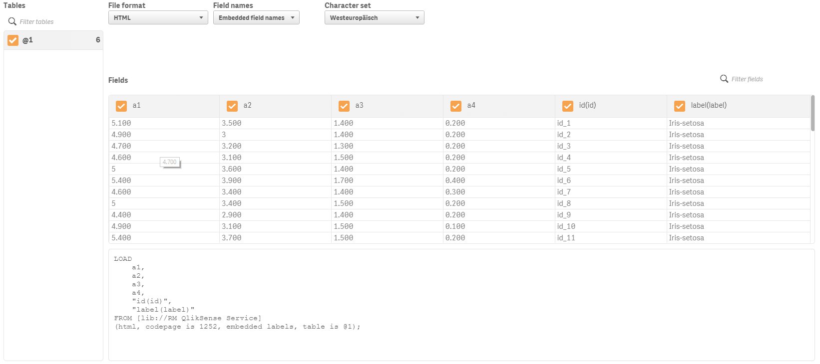Call web service from Qlik Sense - RapidMiner Documentation