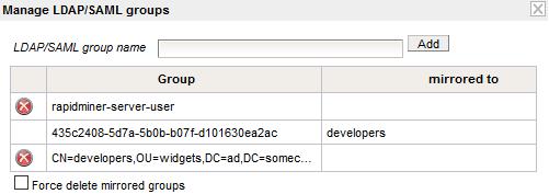 Mirror Groups - RapidMiner Documentation