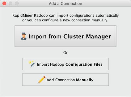 Configuring Radoop Connections - RapidMiner Documentation