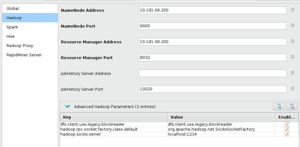 Networking Setup - RapidMiner Documentation