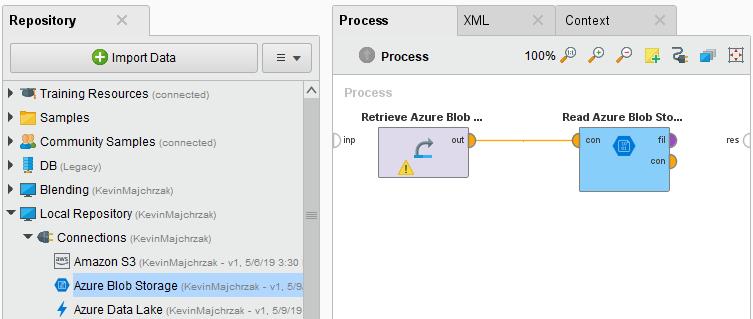 Using Azure Blob Storage - RapidMiner Documentation