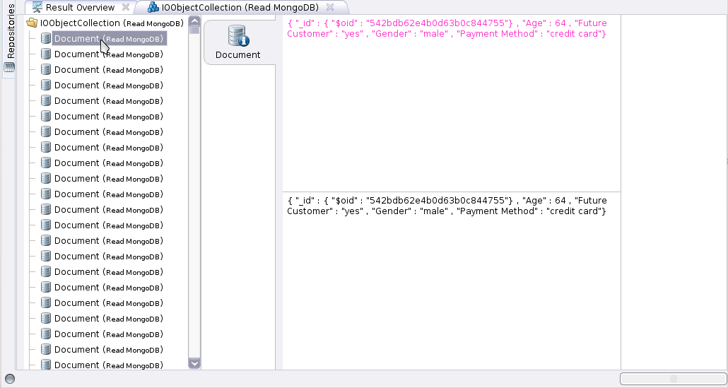 Using MongoDB - RapidMiner Documentation