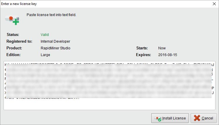 Installing a License - RapidMiner Documentation